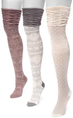 Muk Luks Women's 3-pk. Microfiber Over-the-Knee Socks