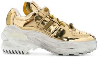 Maison Margiela metallic platform sneakers