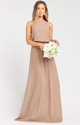 Show Me Your Mumu Heather Halter Dress ~ Dune Chiffon