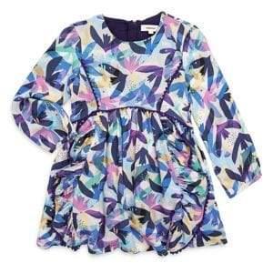 Catimini Little Girl's& Girl's Allover Flower Printed Fit-&-Flare Dress