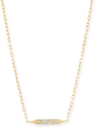 MIO Cyn Crystal Bar Stud Necklace