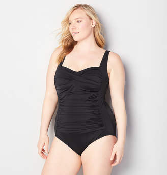Avenue Twist Front One Piece Swimsuit with Tummy Control