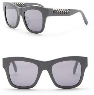 Stella McCartney 49mm Laced Chain Square Sunglasses