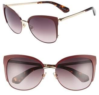 Kate Spade 'genice' 57mm Cat-Eye Sunglasses