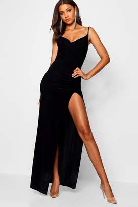 boohoo Tall Cowl Neck Maxi Dress
