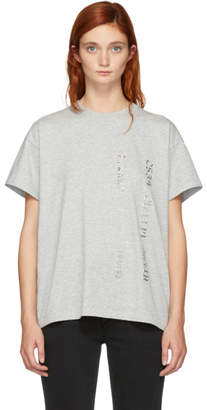 Alexander Wang Grey Credit Card T-Shirt