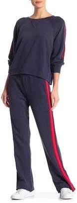 Splendid Campside Side Stripe Wide Leg Sweatpants