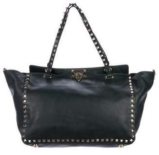 Valentino Leather Rockstud Satchel