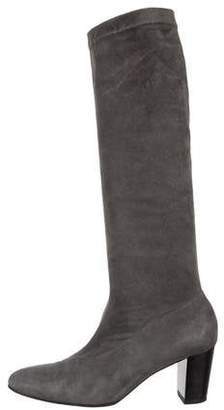 81f51ac6906 Clergerie Suede Stretch Knee-High Boots