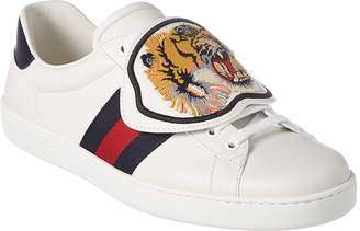 Gucci Ace Removable Patch Leather Sneaker