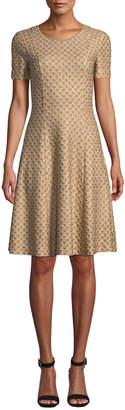 Missoni Short-Sleeve Metallic Jacquard Dress