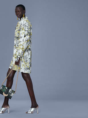 Diane von Furstenberg Long-Sleeve Pintuck Shirtdress