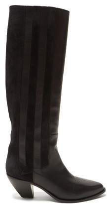 Golden Goose Nebbia Panelled Leather Boots - Womens - Black