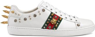 Ace studded leather sneaker $750 thestylecure.com