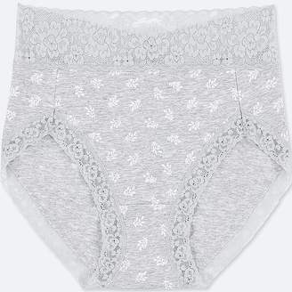 Uniqlo Women's High-rise Floral-print Briefs