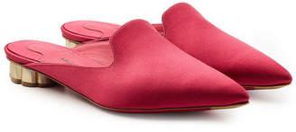 Salvatore Ferragamo Maida Slip-On Satin Loafers
