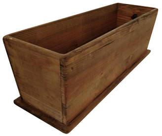 Leisure Season Newport Rectangular Tapered Wooden Planter