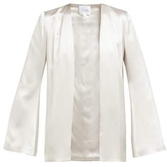 Galvan Collarless Satin Jacket - Womens - Silver