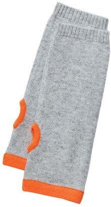 Cove Cashmere Wrist Warmers Grey & Orange