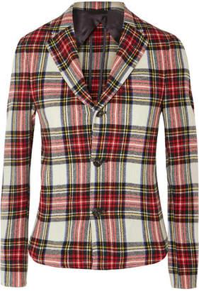 R 13 Tartan Wool-blend Blazer - Red