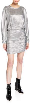 IRO Silar Long-Sleeve Metallic Dress