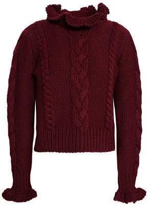 See by Chloe Cable-Knit Wool Turtleneck Sweater