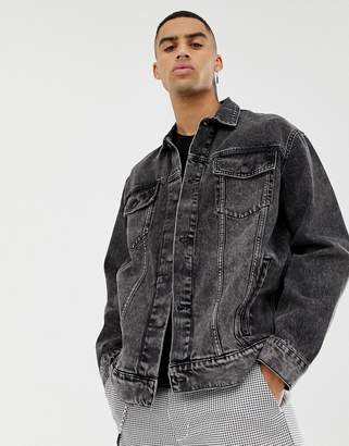 Cheap Monday denim jacket in washed black