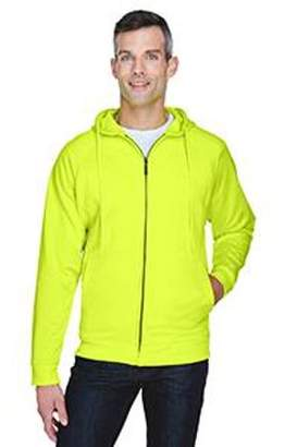 ULTRACLUB UltraClub Adult Rugged Wear Thermal-Lined Full-Zip Hooded Fleece - LIME - 4XL 8463