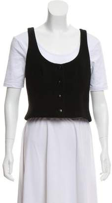 Chanel Cropped Wool Vest