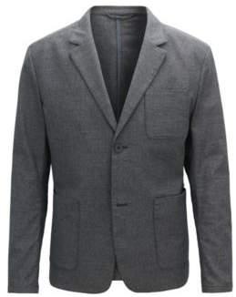 BOSS Hugo Slim-fit blazer in two-tone stretch cotton 38R Dark Blue