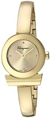 Salvatore Ferragamo Women's 'Gancino Bracelet' Swiss Quartz Tone and Gold Plated Casual Watch(Model: FQ5100017)