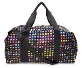 Terez Emoji-Print Collapsible Duffle Bag