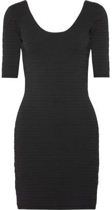 Elizabeth and James Lydia Textured Stretch-ponte Mini Dress - Black