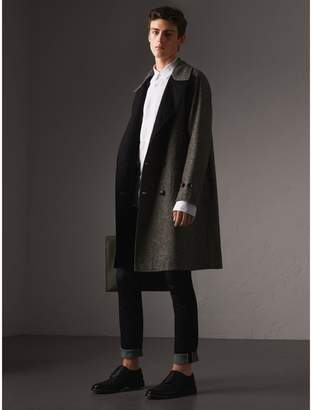 Burberry Reversible Donegal Tweed and Gabardine Trench Coat