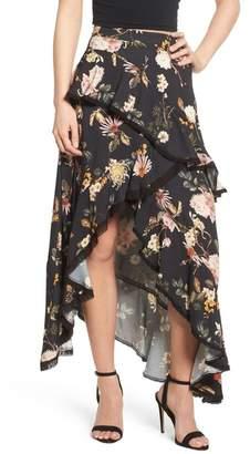 AFRM Grace Ruffle Maxi Skirt