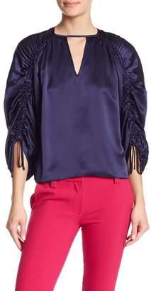 Parker Thyme Silk Long Sleeve Blouse