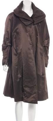 Donna Karan Satin Long Coat