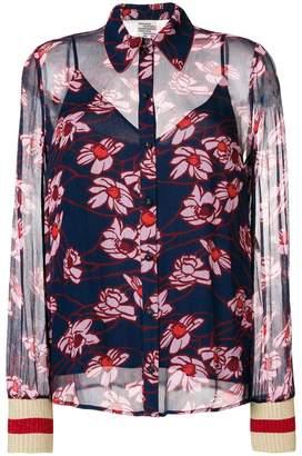 Baum und Pferdgarten daisy print blouse