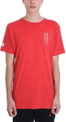 Marcelo Burlon County of Milan Skull Tattoo Red Cotton T-shirt
