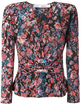 IRO floral print ruched blouse