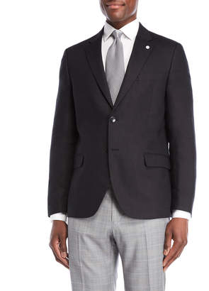 Nautica Black Briella Linen Suit Jacket