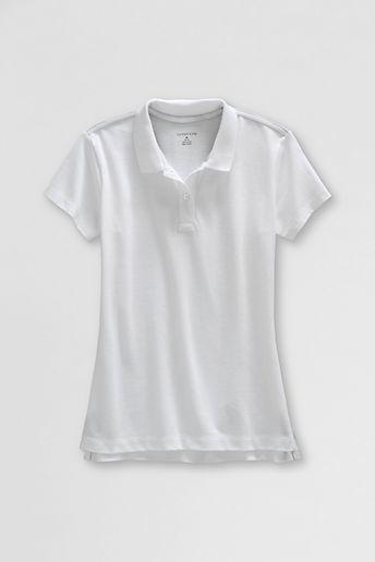 Lands' End NQP Women's Short Sleeve Feminine Fit Mesh Polo Shirt