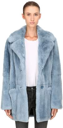 Yves Salomon Rex Rabbit Fur Coat