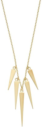 14k Gold Spike Necklace