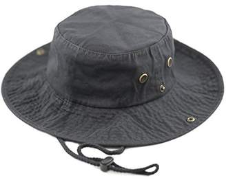 aa34f82ff03ea THE HAT DEPOT 300N1510 Wide Brim Foldable Double-Sided Outdoor Boonie Bucket  Hat (L