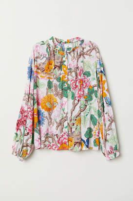 H&M Patterned Blouse - Beige