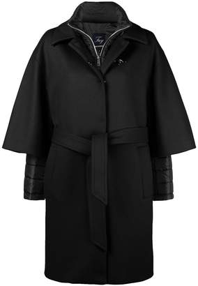 Fay layered belted coat