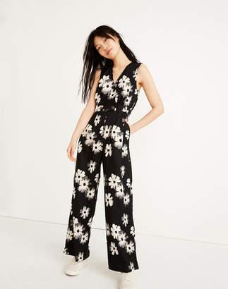 fc3a92633d Madewell Button-Waist Wide-Leg Jumpsuit in Ikat Floral