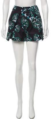Zac Posen Floral Print Mini Shorts