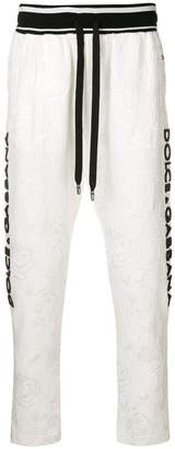 Dolce & Gabbana lace embellished tracksuit trousers